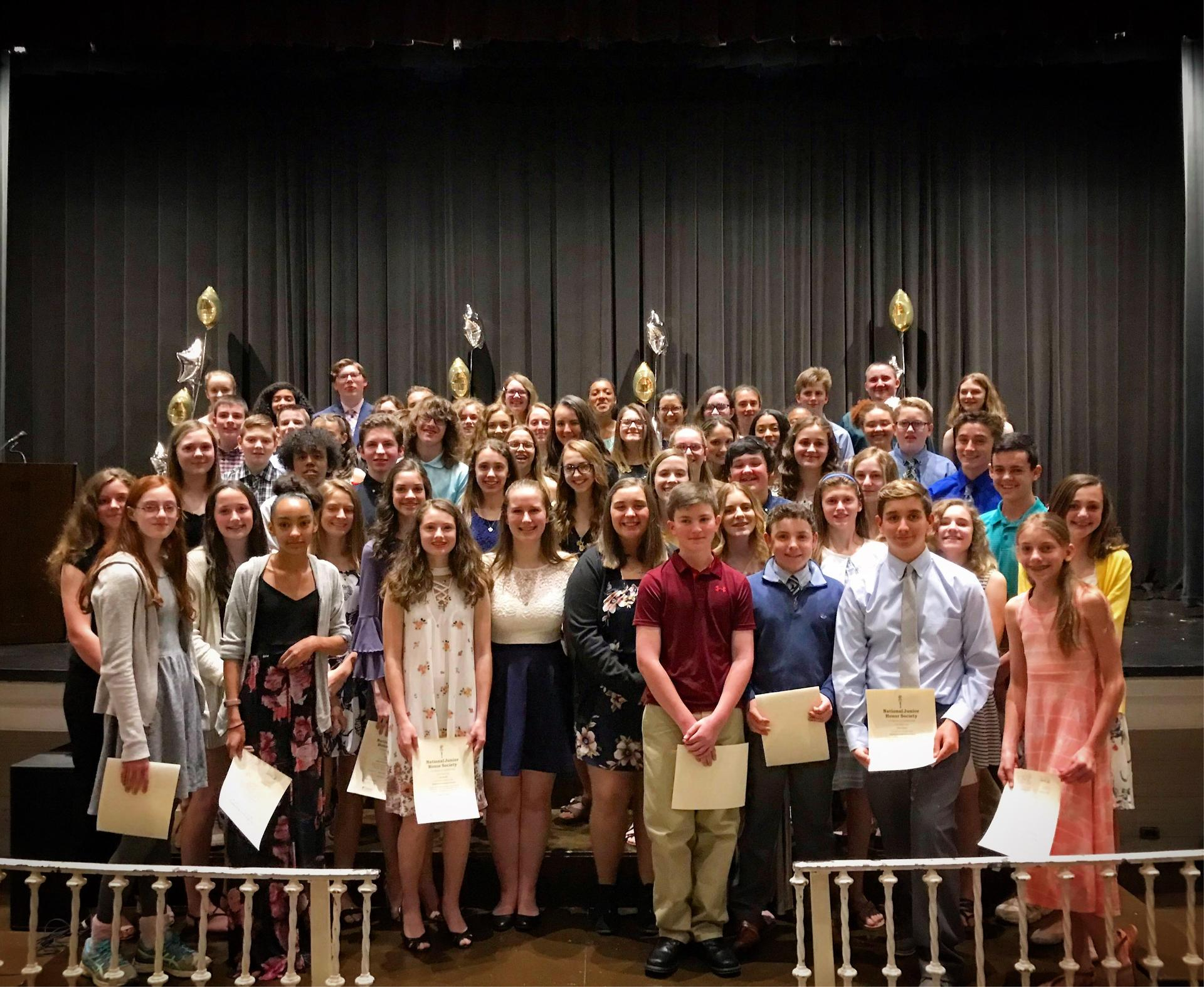 njhs induction group picture
