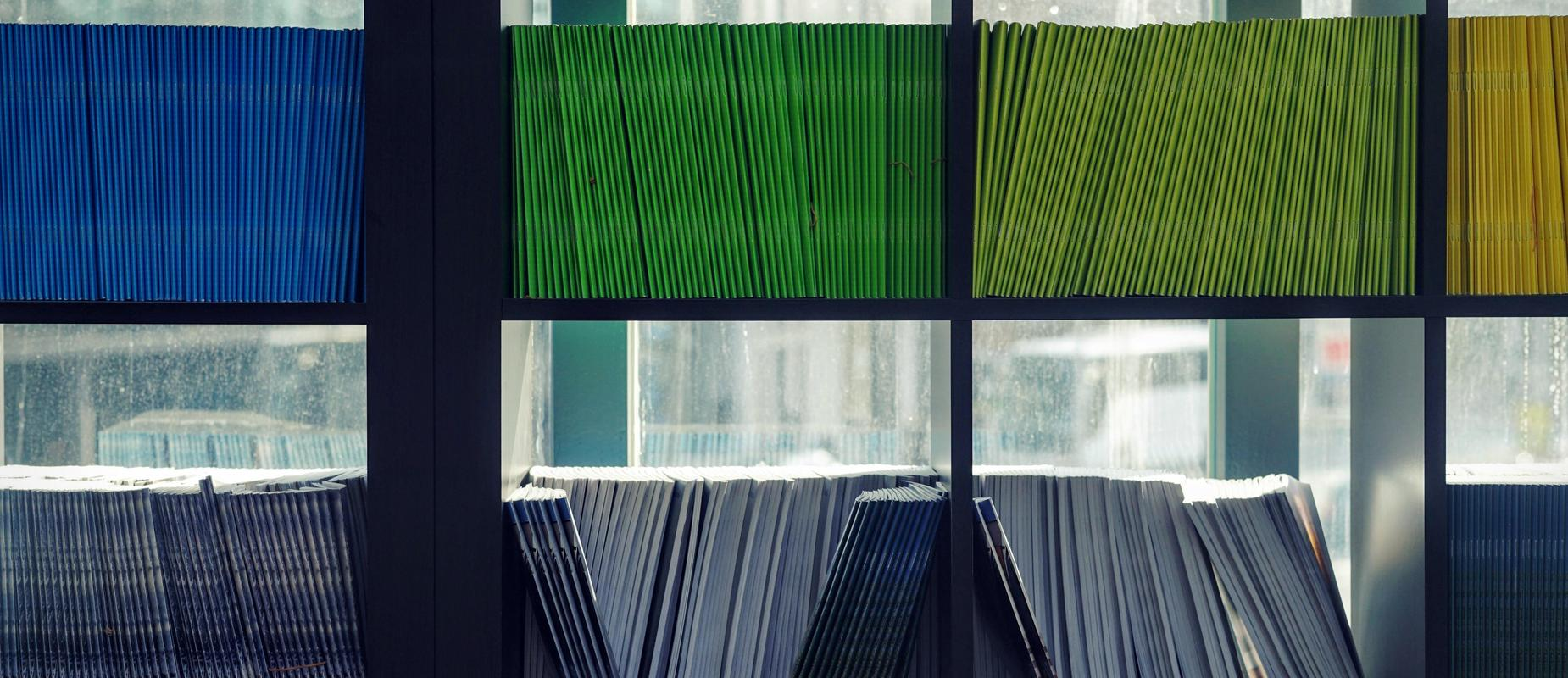 Image of workbooks and file folders