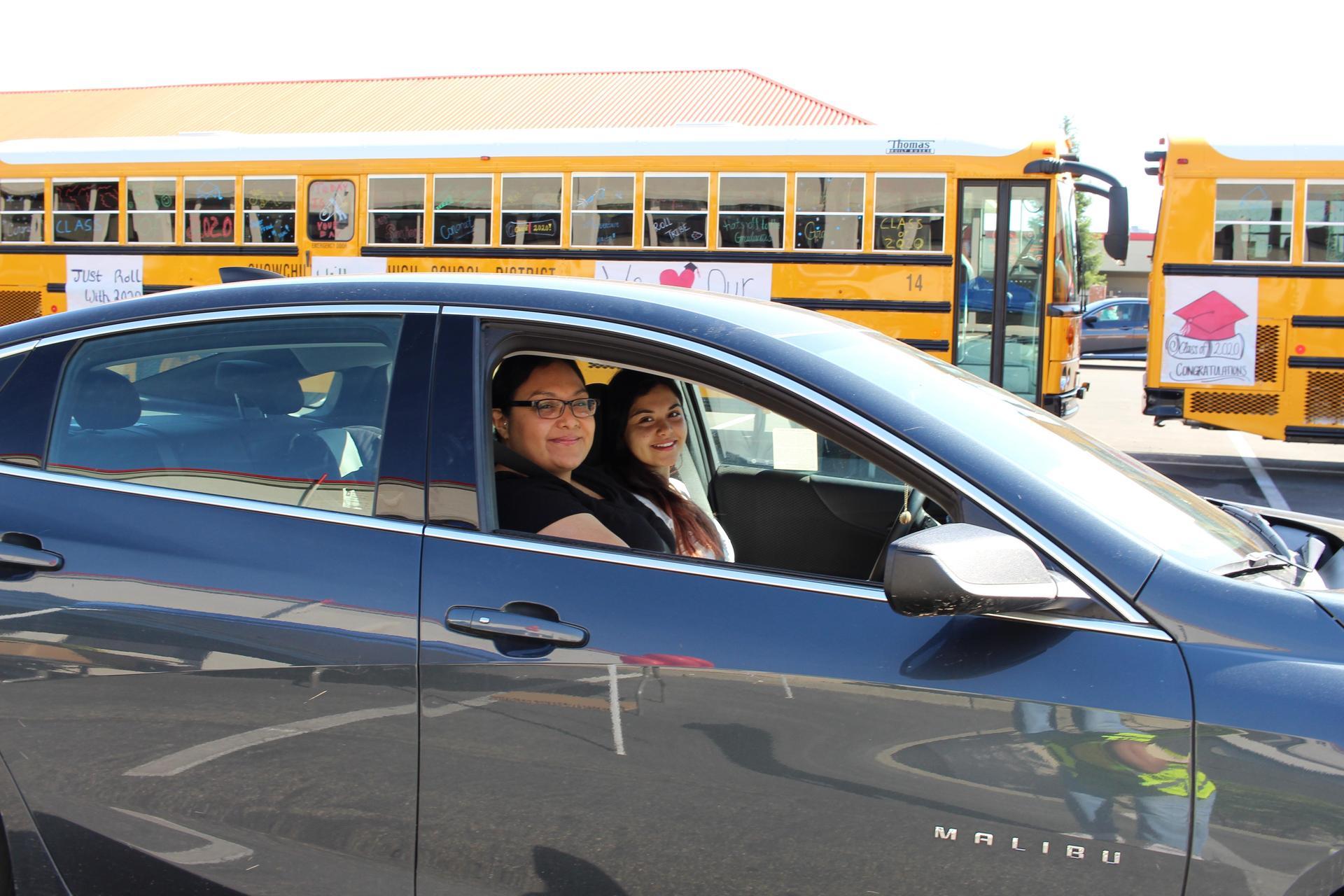 Fatima Benavides driving through