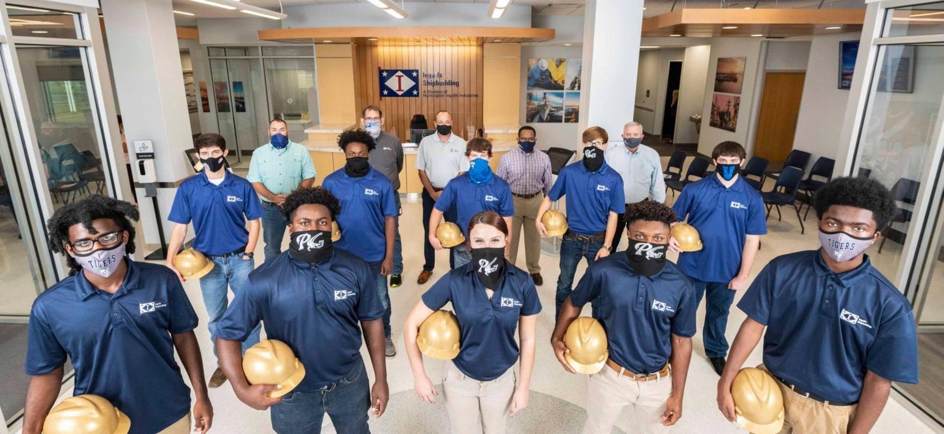 Shipbuilder academy students