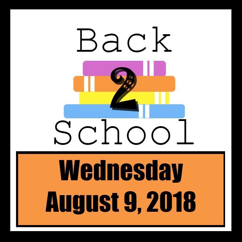 School begins August 9, 2018 Thumbnail Image