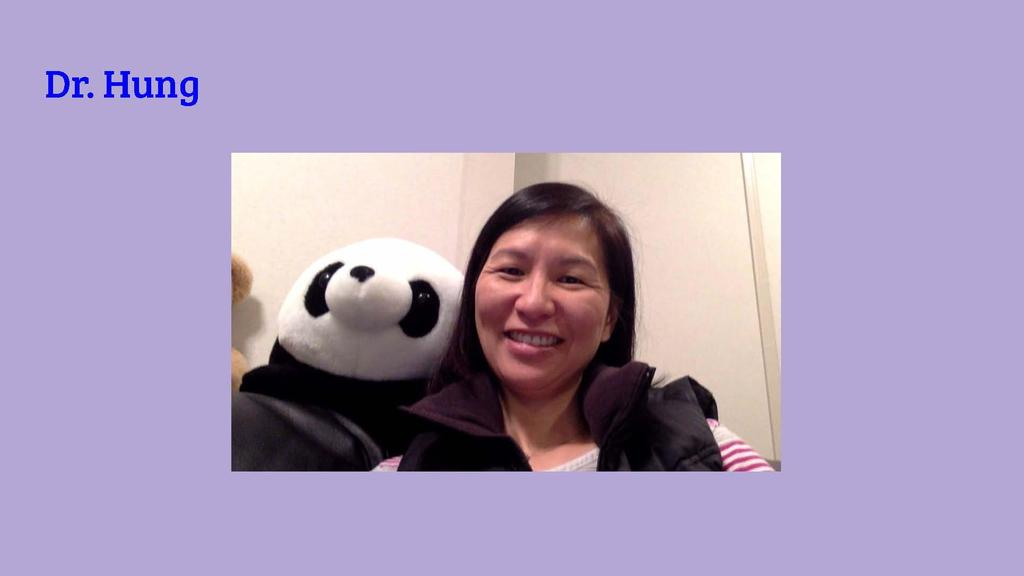 Photo of Jefferson School principal Dr. Susie Hung with stuffed animal.