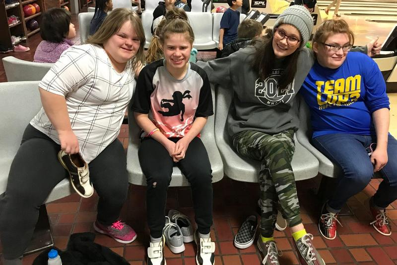 students practice for special olympics