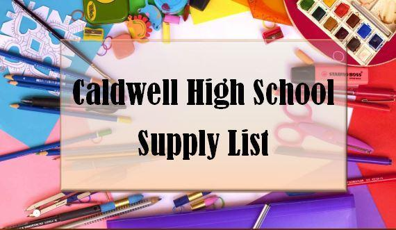 CHS Supply List