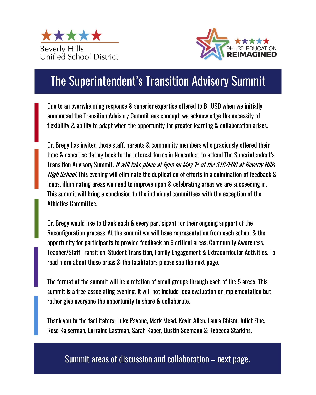 The Superintendent's Transition Advisory Summit Pg1