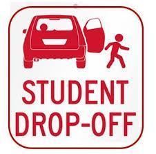 student drop off sign