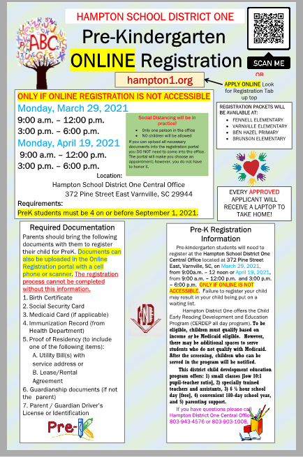 PreK Registration Flyer