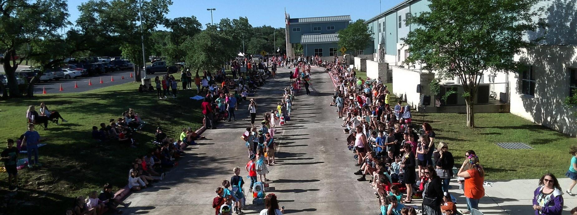 Drone view of Parade