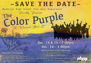 The Color Purple Flyer