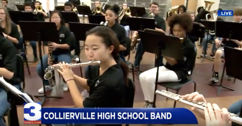 CHS Freshman Band Perform on Memphis Channel 3 LIVE@9 Featured Photo