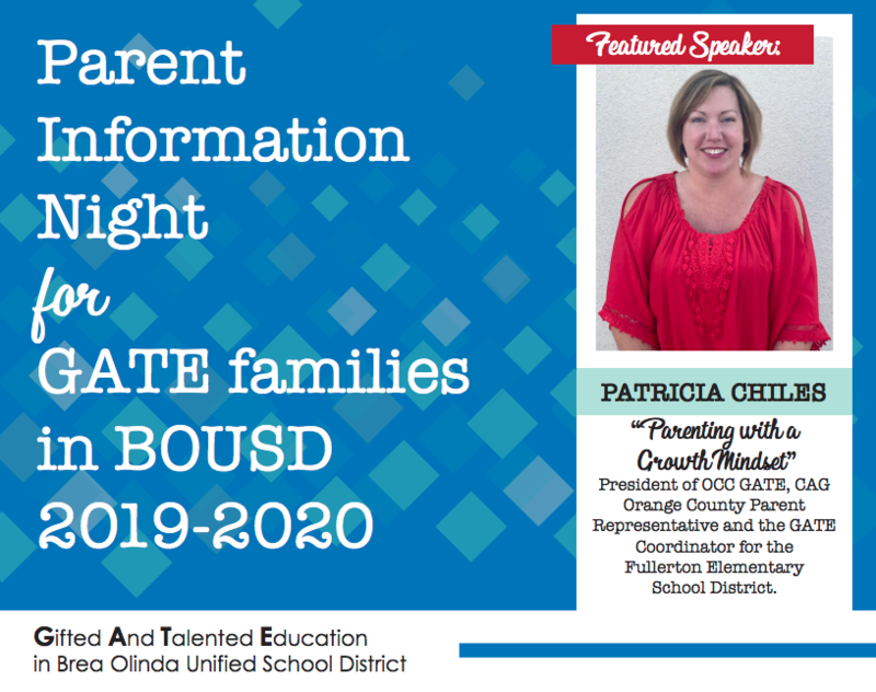 GATE Parent Info Night
