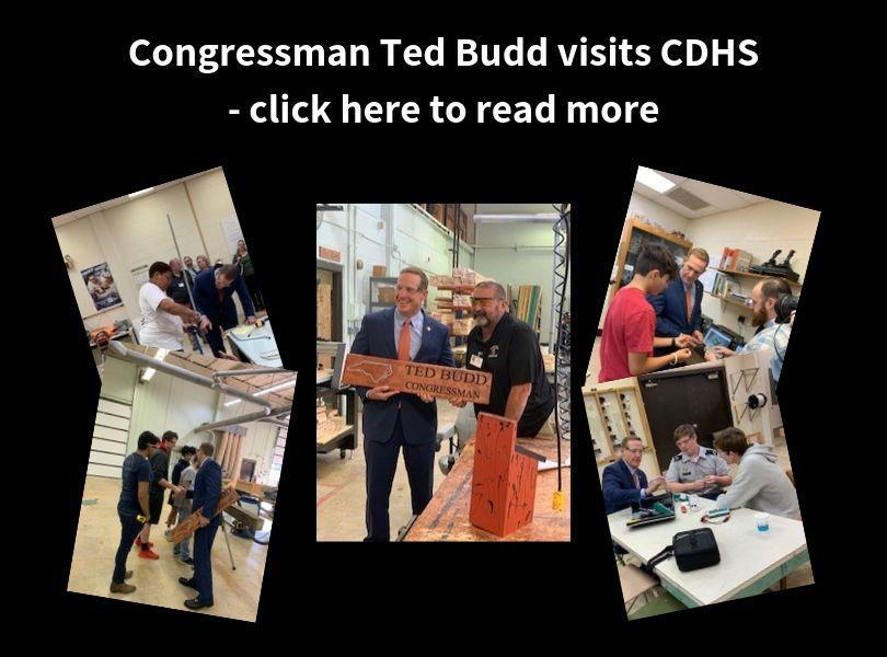 Congressman Ted Budd visits CDHS - click here to read more