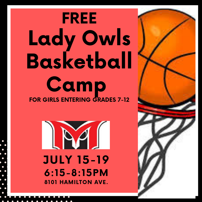 lady's baskeball camp in july