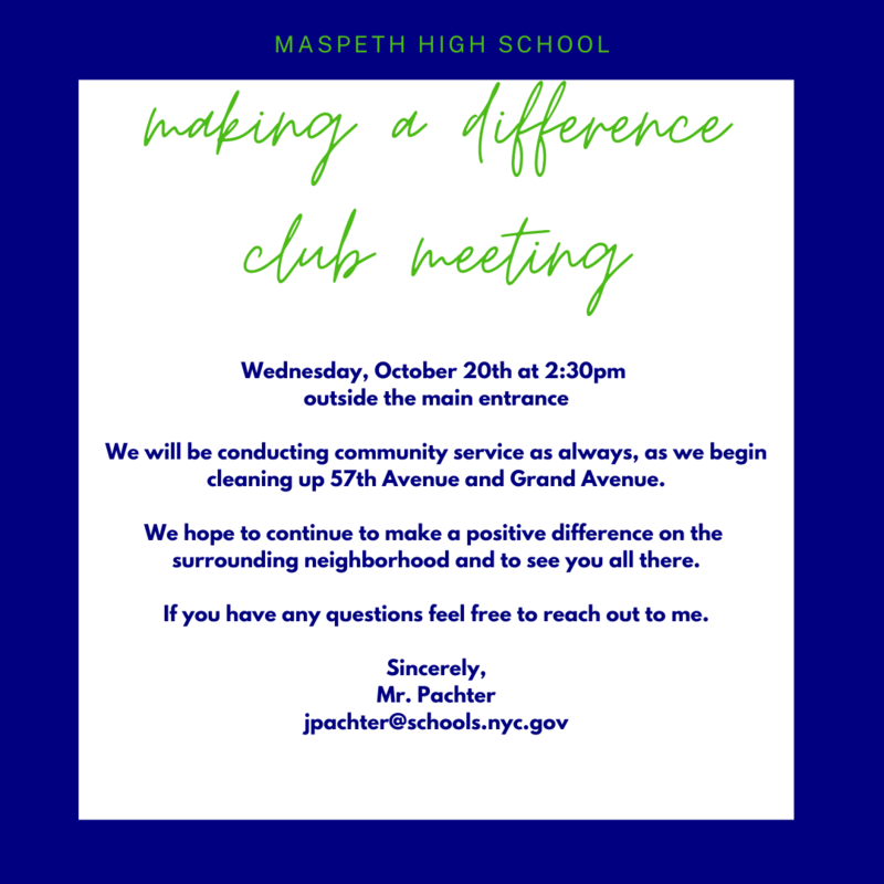 Maspeth Making a Difference