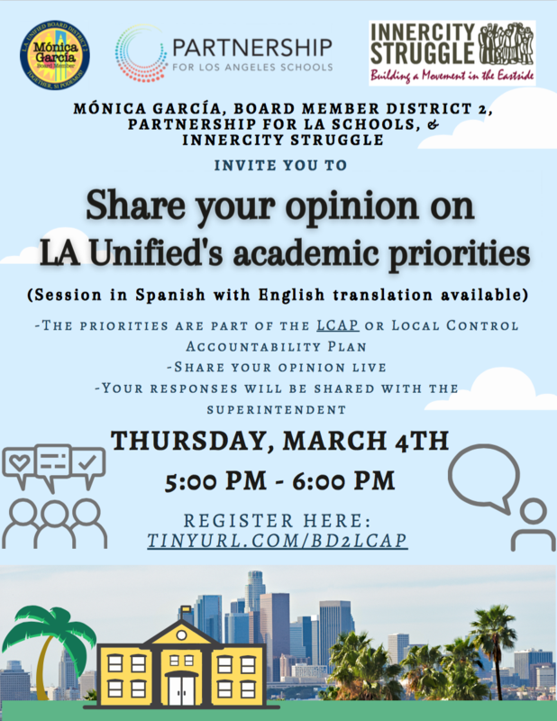 Share your opinion on LA Unified's academic priorities