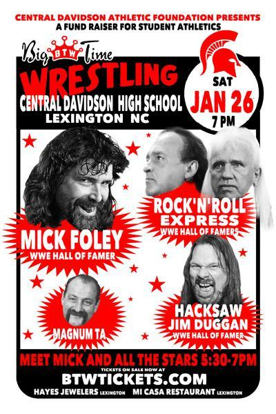 Big Time Wrestling Event, CDHS 1/26, 7 PM