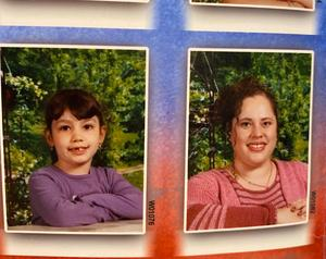 Anagabriella (left) and Ms. Ramirez (right) in their 2003 school portraits