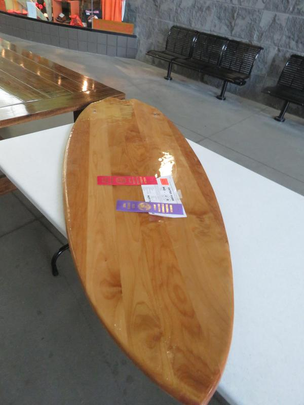 This surf board earned statewide honors.