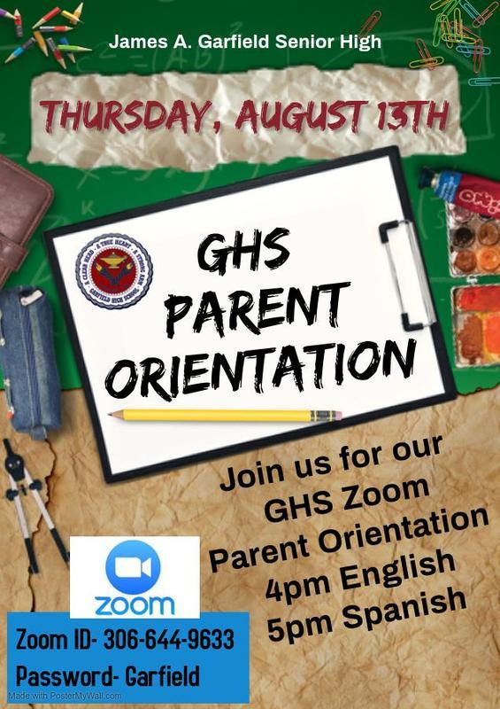 2020-21 GHS Zoom Parent Orientation