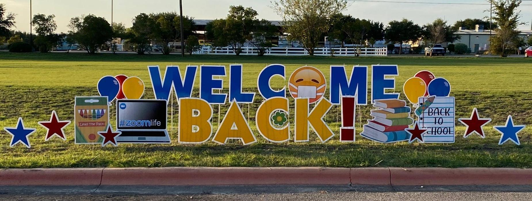 MSI Welcome Back Sign