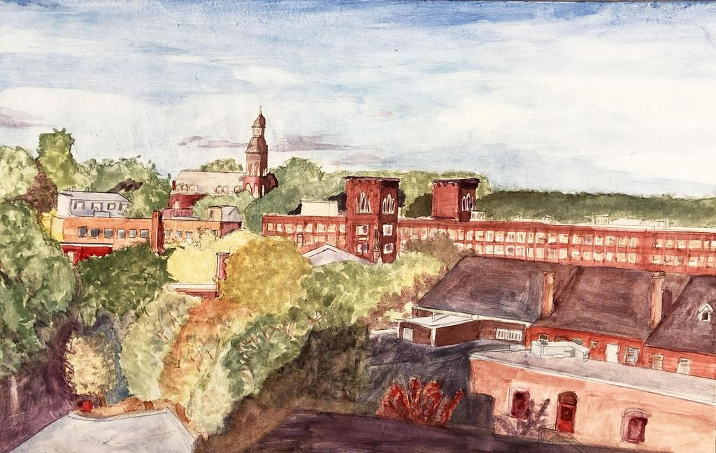 city of dover watercolor