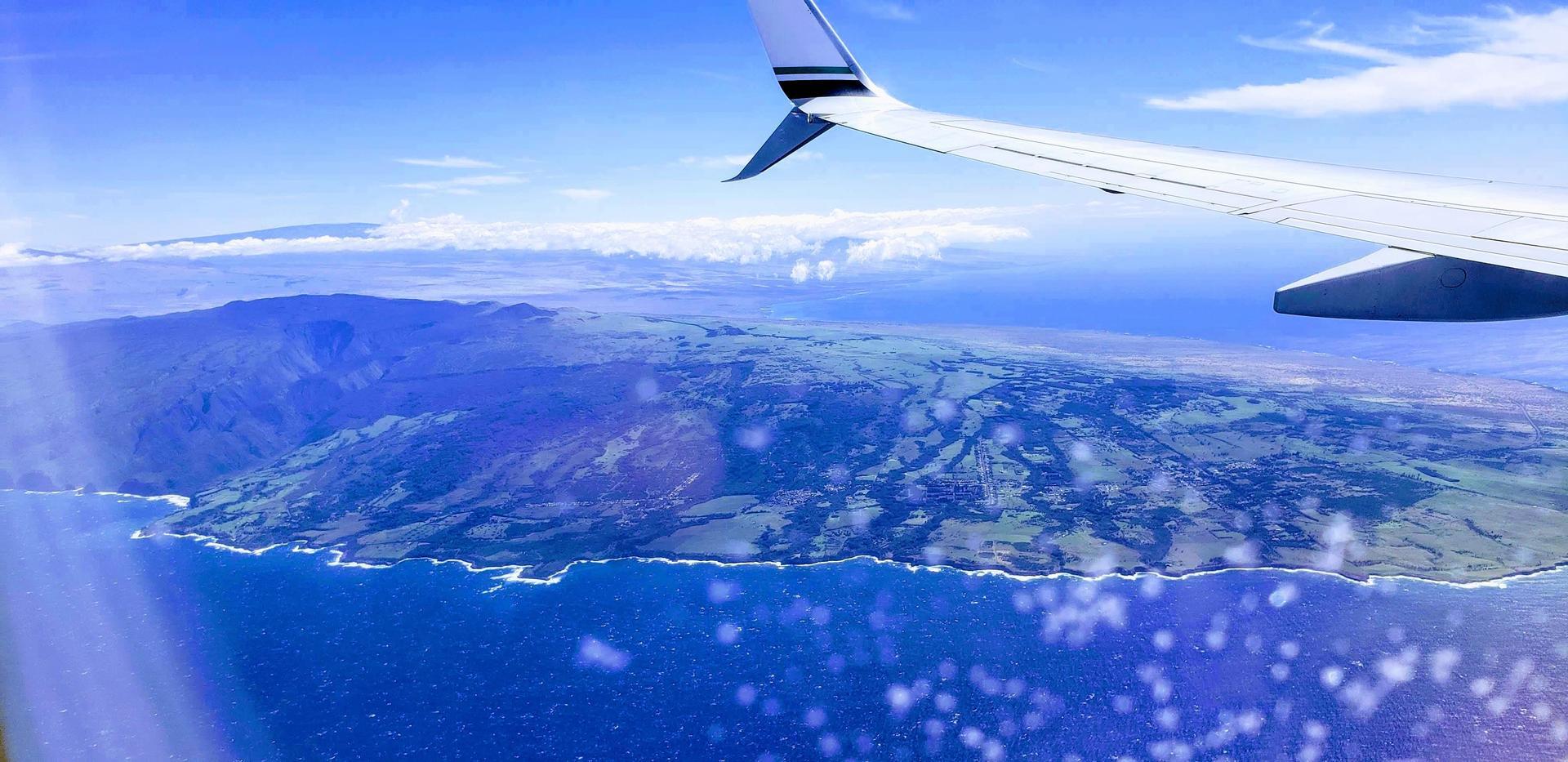 Island and airplane