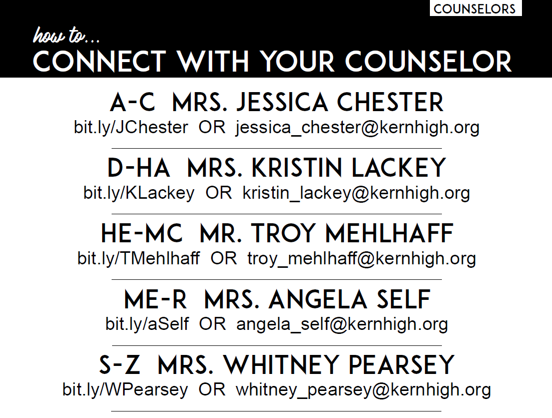 Counselor Contacts
