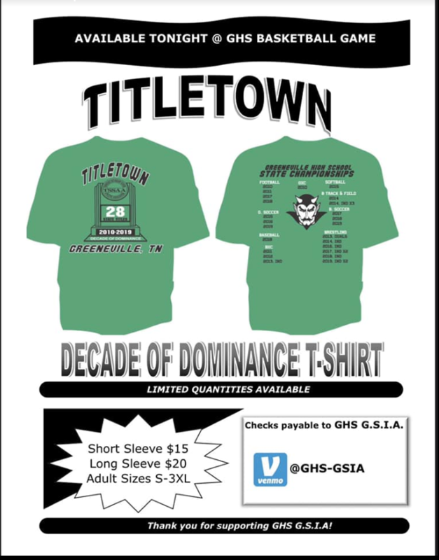 Title town shirt order and information