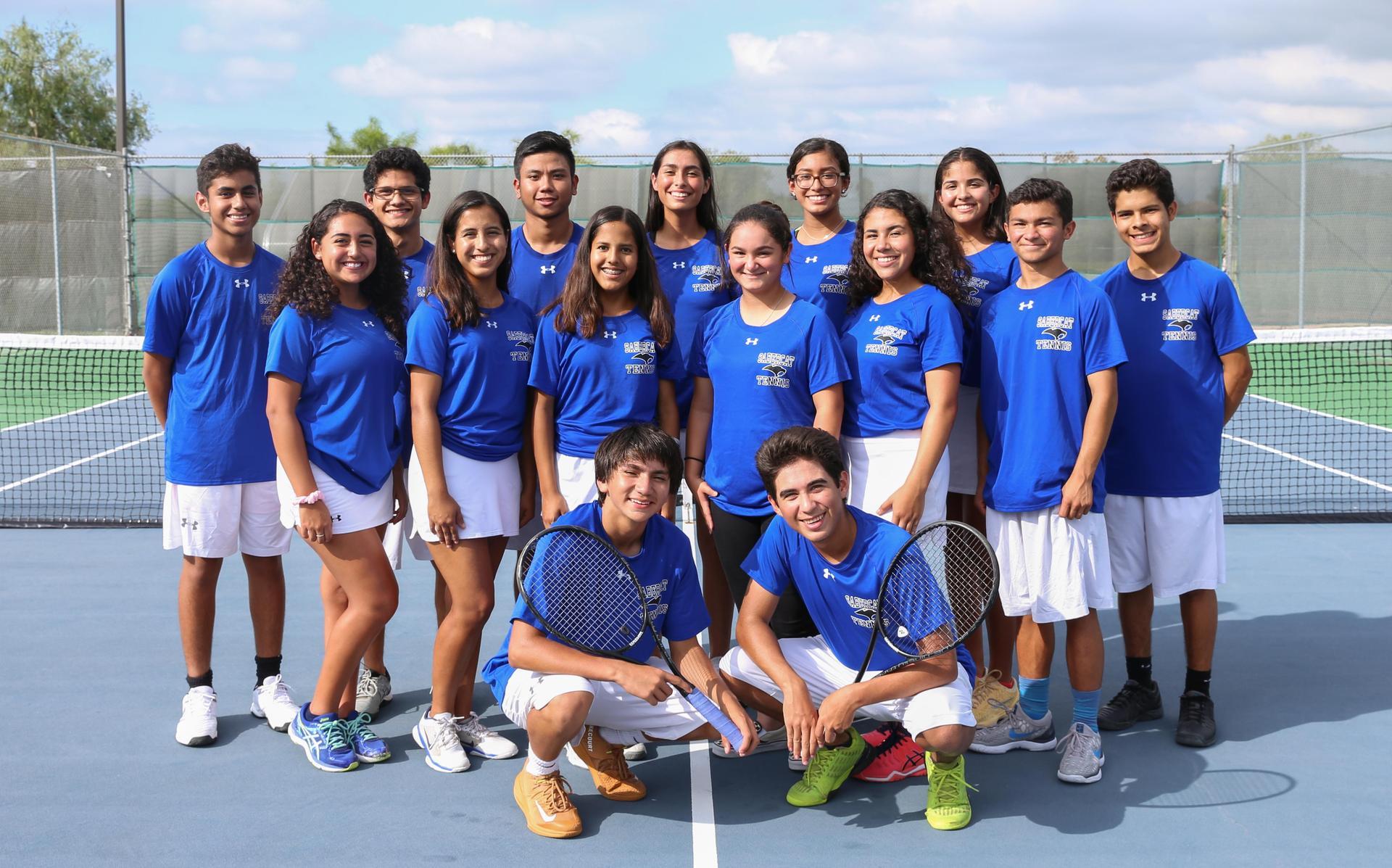 Image of: Varsity Tennis team