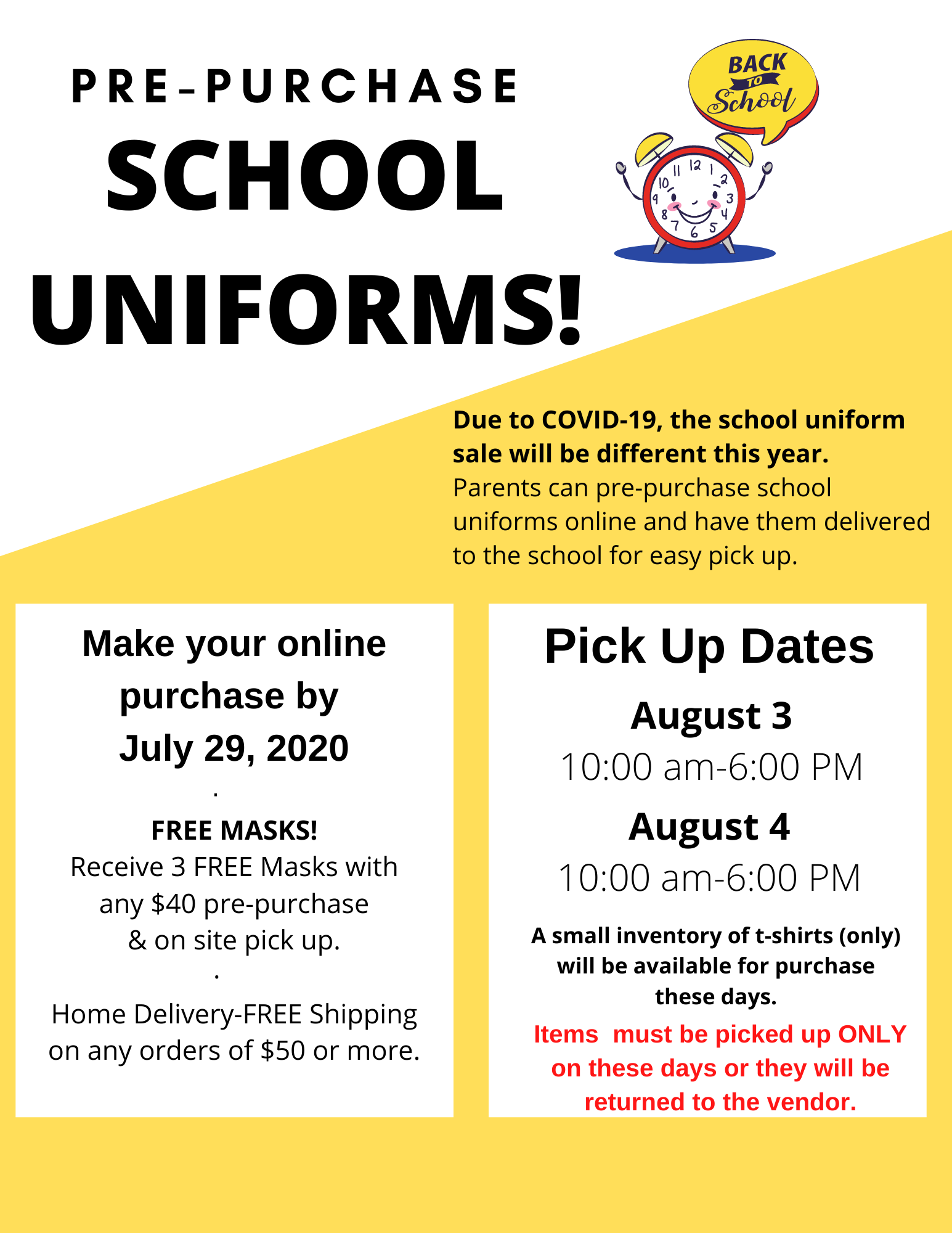 school uniform sale