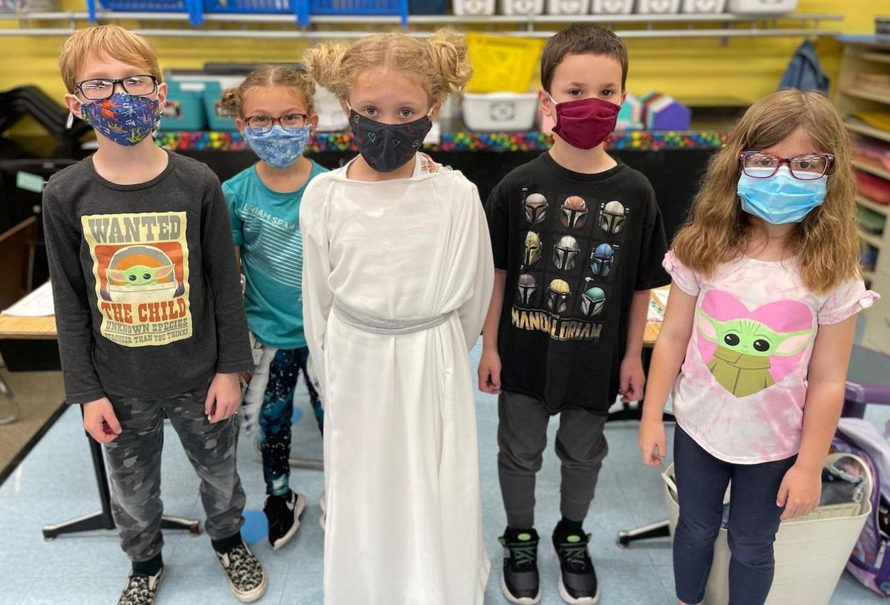 students dressed as Star Wars characters