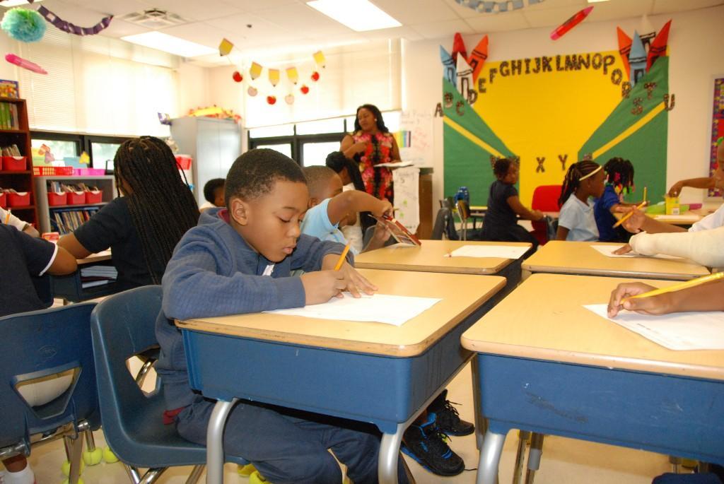 Second grade, Aspire Academy, first day 2016-17