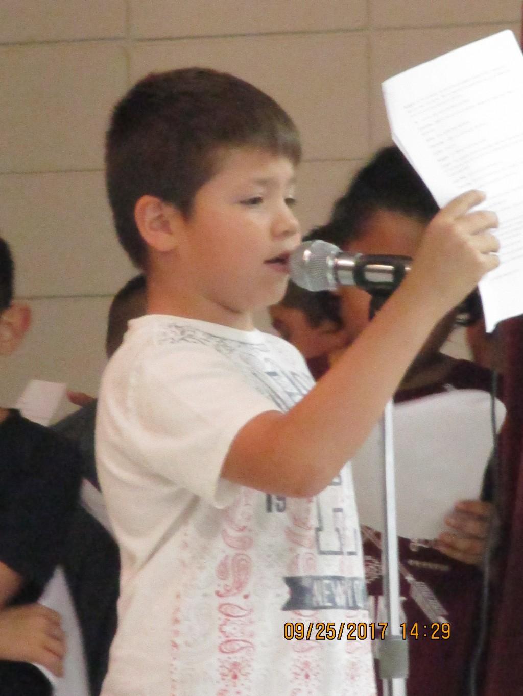 5th graders readers theatre