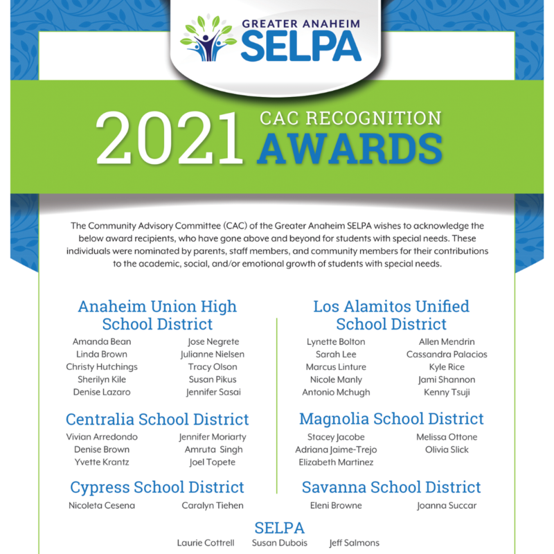 SELPA Recognition