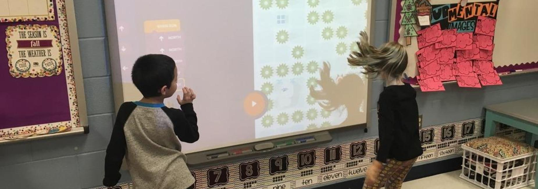 Chamberlin Elementary students at Smart Board