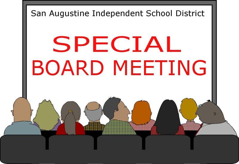 Special Board Meeting written on white board