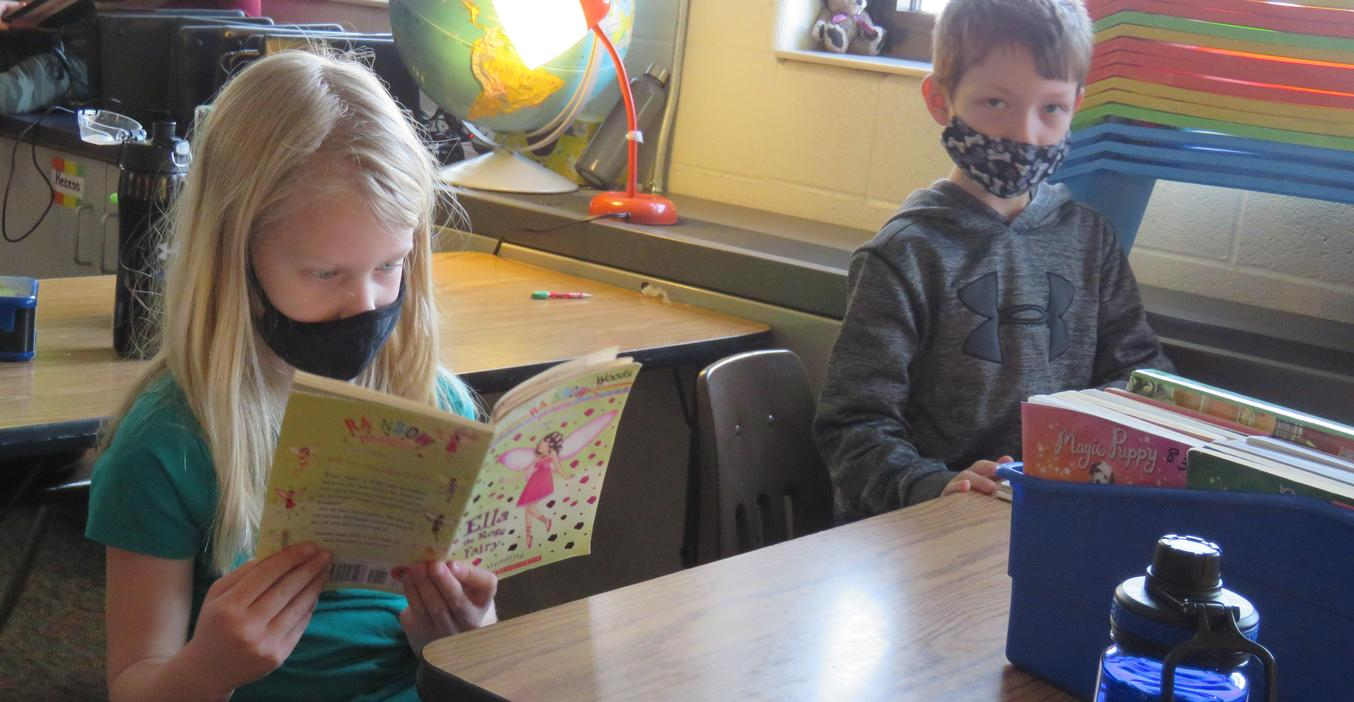 Reading is fun at Lee Elementary.
