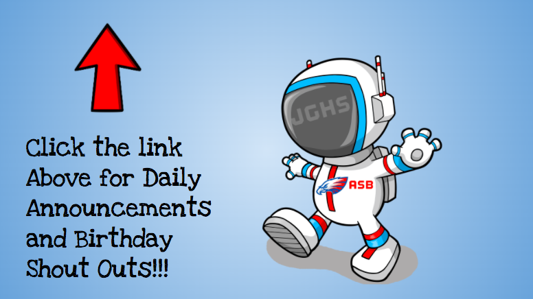 JGHS Daily Announcement & Birthday Shout Out! Featured Photo