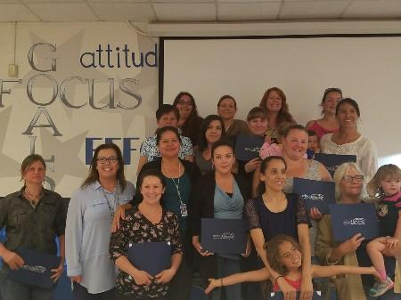 School Smart Parent Academy Graduates with Mrs. Robilotta and Facilitator Mrs. Lopez