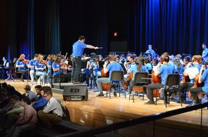 Bensalem High School orchestra performs The Evil Eye and the Hideous Heart
