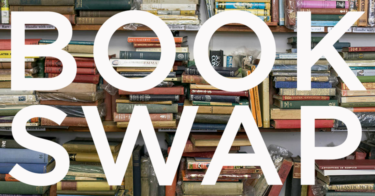 Collecting for our Annual Book Swap!  Clean out those bookshelves and swap for something new! Featured Photo