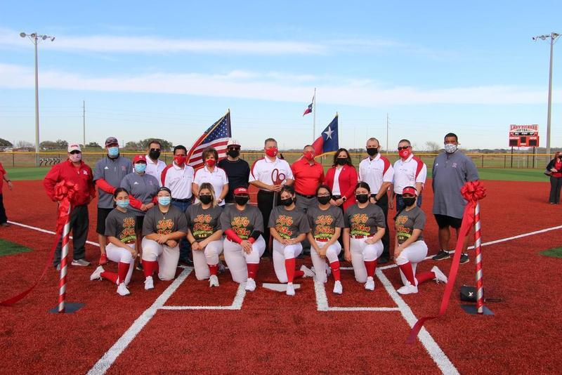 Ribbon Cutting Ceremony for Turf Field Project Completion at Lady Picker Softball Stadium Featured Photo