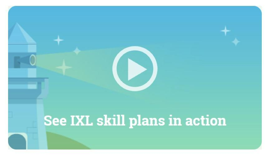 ixl lighthouse logo with saying: see ixl skills in action