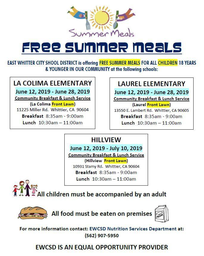 Free Summer Meals Locations