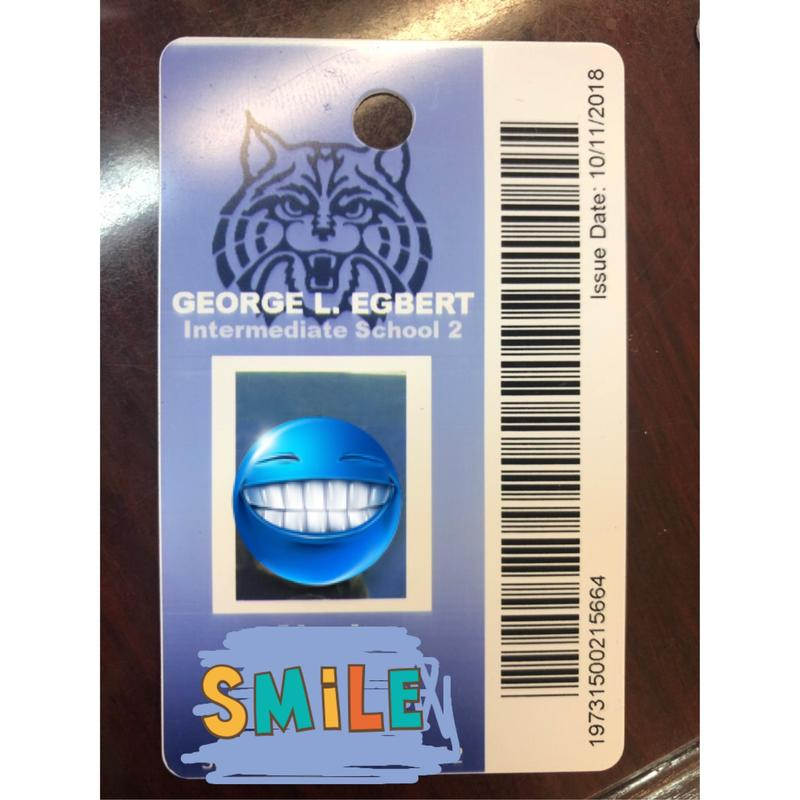 Sample Student ID card