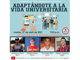 Charla - Adaptándote a la Vida Universitaria Thumbnail Image