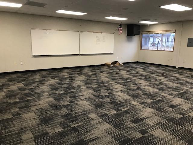 New flooring in our portable classrooms