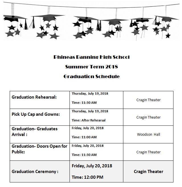 Banning High School's Summer Graduation 2018 Information Featured Photo