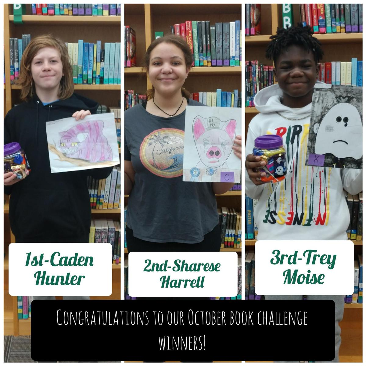 October Book Challenge Winners
