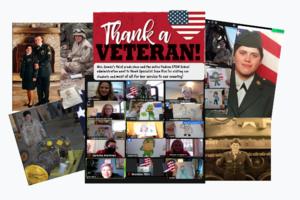 Thank a veteran collage